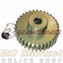 3RACING 3RAC-PG4834 48 Pitch Pinion Gear 34T (7075 w/Hard Coating)