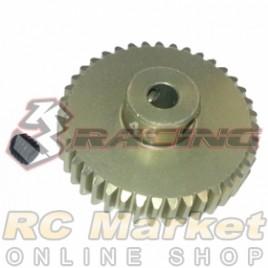 3RACING 3RAC-PG4840 48 Pitch Pinion Gear 40T (7075 w/Hard Coating)