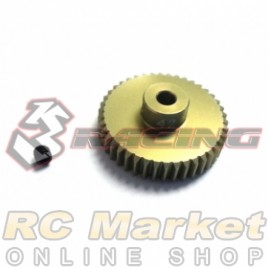 3RACING 3RAC-PG4842 48 Pitch Pinion Gear 42T (7075 w/Hard Coating)