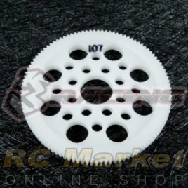 3RACING 3RAC-SG64107 64 Pitch Spur Gear 107T