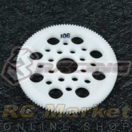 3RACING 3RAC-SG64108 64 Pitch Spur Gear 108T