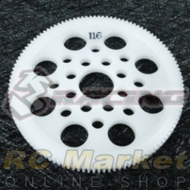 3RACING 3RAC-SG64116 64 Pitch Spur Gear 116T