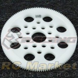 3RACING 3RAC-SG64118 64 Pitch Spur Gear 118T