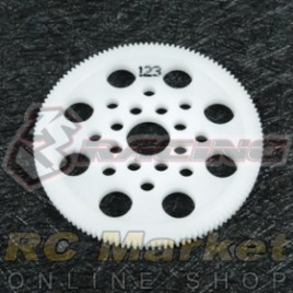 3RACING 3RAC-SG64123 64 Pitch Spur Gear 123T