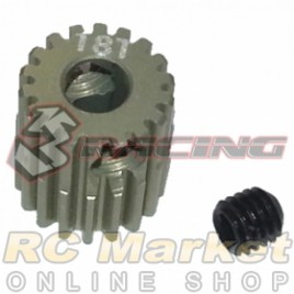 3RACING 3RAC-PG6418 64 Pitch Pinion Gear 18T (7075 w/Hard Coating)