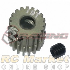 3RACING 3RAC-PG6419 64 Pitch Pinion Gear 19T (7075 w/Hard Coating)