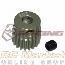3RACING 3RAC-PG6420 64 Pitch Pinion Gear 20T (7075 w/Hard Coating)