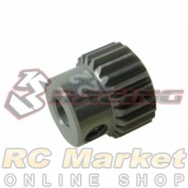 3RACING 3RAC-PG6422 64 Pitch Pinion Gear 22T (7075 w/Hard Coating)