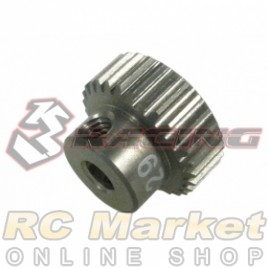 3RACING 3RAC-PG6429 64 Pitch Pinion Gear 29T (7075 w/Hard Coating)