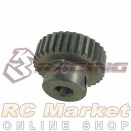 3RACING 3RAC-PG6432 64 Pitch Pinion Gear 32T (7075 w/Hard Coating)