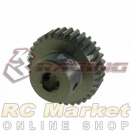 3RACING 3RAC-PG6434 64 Pitch Pinion Gear 34T (7075 w/Hard Coating)