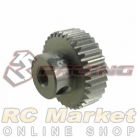 3RACING 3RAC-PG6435 64 Pitch Pinion Gear 35T (7075 w/Hard Coating)