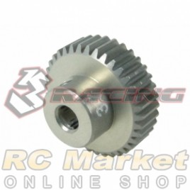 3RACING 3RAC-PG6437 64 Pitch Pinion Gear 37T (7075 w/Hard Coating)