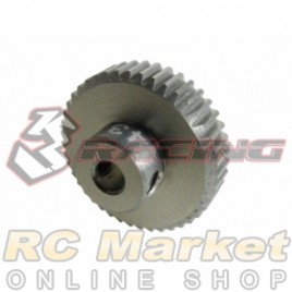 3RACING 3RAC-PG6443 64 Pitch Pinion Gear 43T (7075 w/Hard Coating)