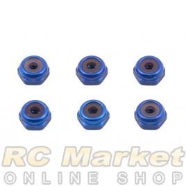 ASSOCIATED 6937 FT Locknuts, Blue Aluminum 4-4