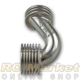 NOVAROSSI 41620 Polished Manifold Set Cylindrical Long, 2 Rings 7 Fins.