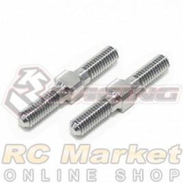 3RACING 3RAC-TR321 64 Titanium 3mm Turnbuckle - 21mm (2pcs)