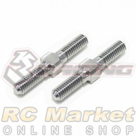 3RACING 3RAC-TR321 64 Titanium 3mm Turnbuckle - 21mm (2pcs)