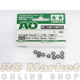 TAMIYA 84195 AO Parts AO-5042 3mm O-Ring Black (10)
