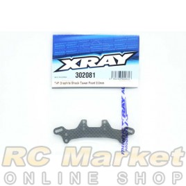 XRAY 302081 T4F Graphite Shock Tower Front 3.0mm