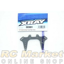XRAY 303081 T4F Graphite Shock Tower Rear 3.0mm