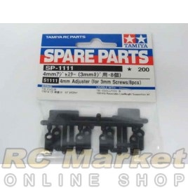 TAMIYA 51111 4mm Adjuster (for 3mm Screw / 8 pieces)