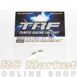 TAMIYA 42238 TRF 3x8 mm Titanium Hollow Bis (2)