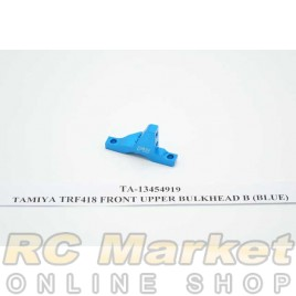 TAMIYA 13454919 TRF418 Front Upper Bulkhead B (Blue)