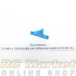 TAMIYA 13454921 TRF418 Rear Upper Bulkhead B (Blue)