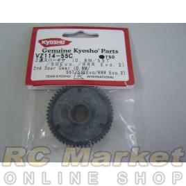 KYOSHO VZ114-55C 2nd Spur Gear (0.8M/55T/SⅢEvo/RRR Evo.2)
