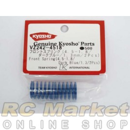 KYOSHO VZ242-4518 Front Spring (4.5-1.8/Dark Blue/φ1.3) (2)
