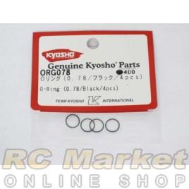 KYOSHO ORG078 O-Ring (0.78/Black/4pcs)