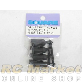 SQUARE TGE-205M Strong Rod End M size (for TAMIYA Pillow Ball) Dark Gray