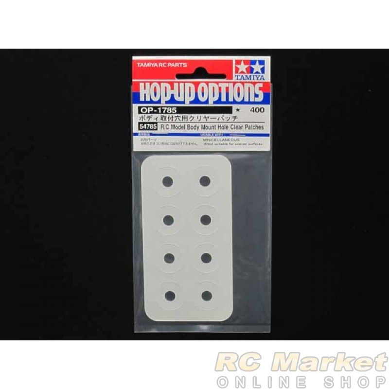 TAMIYA 54785 R/C Model Body Mount Hole Clear Patches