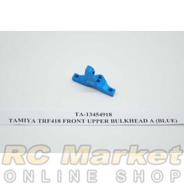 TAMIYA 13454918 TRF418 Front Upper Bulkhead A (Blue)