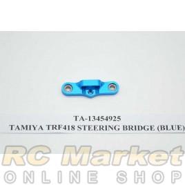 TAMIYA 13454925 TRF418 Steering Bridge (Blue)