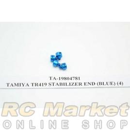 TAMIYA 19804781 TR419 Stabilizer End (Blue) (4)