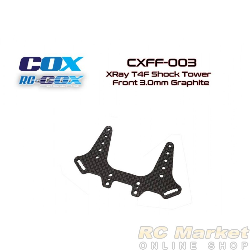 RC-COX CXFF-003 Shock Tower Front 3.0mm Graphite (for Xray T4F)