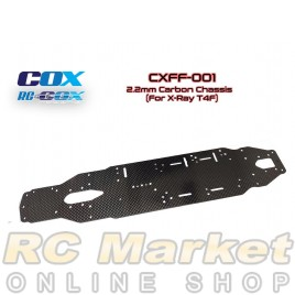 RC-COX CXFF-0012.2mm Carbon Chassis (For Xray T4F)