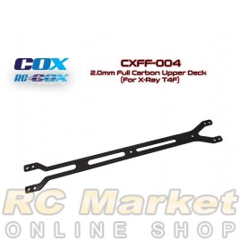 RC-COX CXFF-004	2.0mm Full Carbon Upper Deck (For Xray T4F)