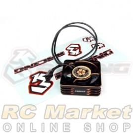 3RACING 3RAC-FAN10 Alum. Case High Speed Cooling Fan 7.2V 30 x 30 x10mm (Max.8.4V)