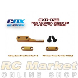 RC-COX CXR-023 7075 Alu Battery Stopper Set (For Xray T4)