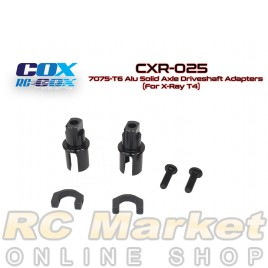 RC-COX CXR-025 7075-T6 Alu Solid Axle Driveshaft Adapters (For Xray T4)