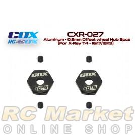 RC-COX CXR-027 Alum. -0.5mm Offset Wheel Hub 2pcs (for Xray T4)
