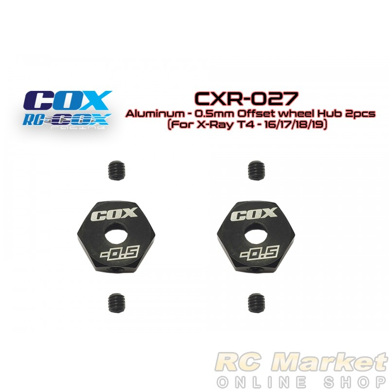RC-COX CXR-027 Alum. -0.5mm Offset Wheel Hub 2pcs (for Xray T4)