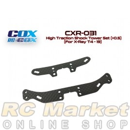 RC-COX CXR-031 High Traction Shock Tower Set (+0.5) (For Xray T4'19)