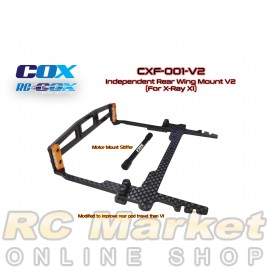 RC-COX CXF-001-V2 Independent Rear Wing Mount V2 (For Xray X1)