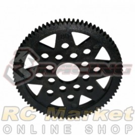3RACING 3RAC-SG4880P M4 48 Pitch Spur Gear 80T (Plastic)