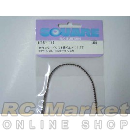 SQUARE STA-113 Counter Drift Belt 113T (for Tamiya TA05)
