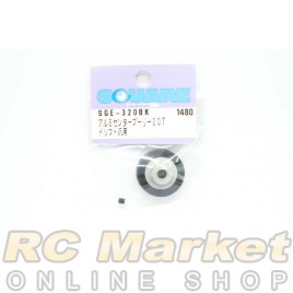 SQUARE SGE-320BK Aluminum Center Pulley 20T (Black)